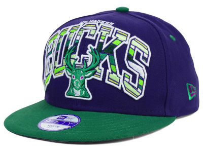 Milwaukee Bucks New Era NBA HWC Youth Out of Line 9FIFTY Snapback Cap