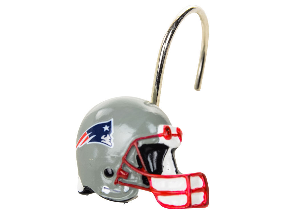 New England Patriots Shower Curtain Rings