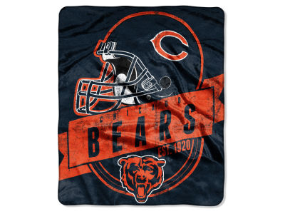 "Chicago Bears 50x60in Plush Throw Blanket ""Grand Stand"""