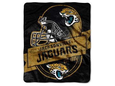 "Jacksonville Jaguars 50x60in Plush Throw Blanket ""Grand Stand"""