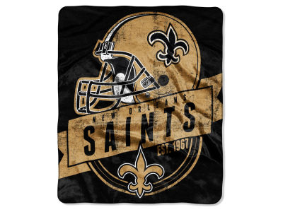 "New Orleans Saints 50x60in Plush Throw Blanket ""Grand Stand"""