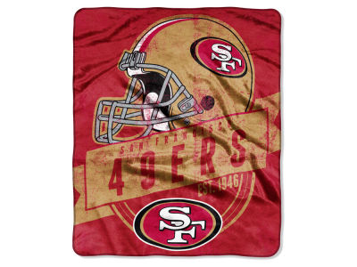 "San Francisco 49ers 50x60in Plush Throw Blanket ""Grand Stand"""