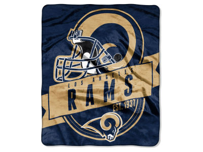 "Los Angeles Rams 50x60in Plush Throw Blanket ""Grand Stand"""