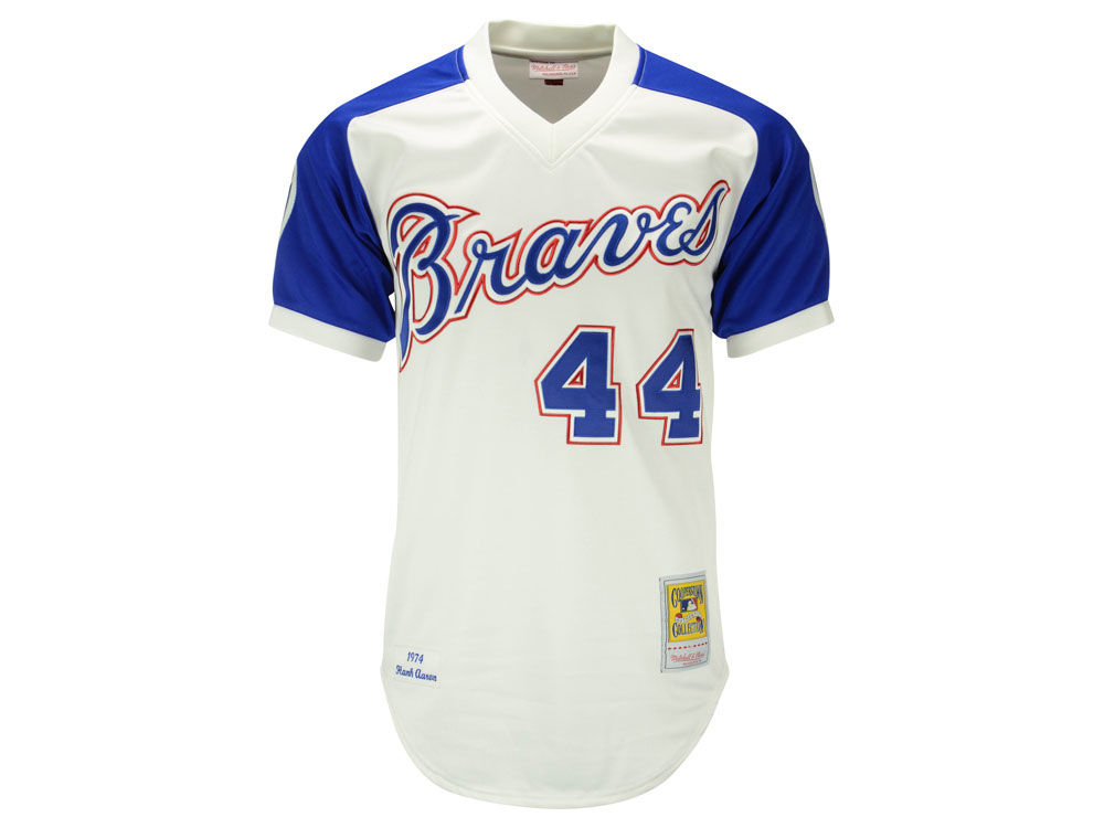 buy online 384a4 ee266 hank aaron throwback jersey braves