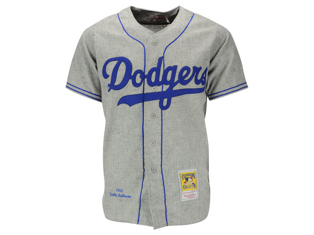 Los Angeles Dodgers Jackie Robinson Mitchell   Ness MLB Men s Authentic  Jersey  48784fa76b0