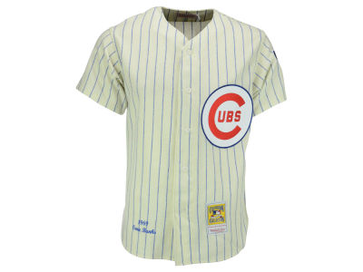 Chicago Cubs Ernie Banks Mitchell and Ness MLB Men's Authentic Jersey