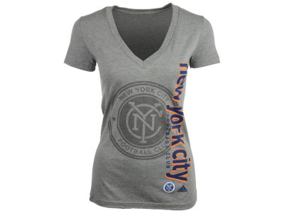 New York City FC adidas MLS Women's Smoke Vertical T-Shirt