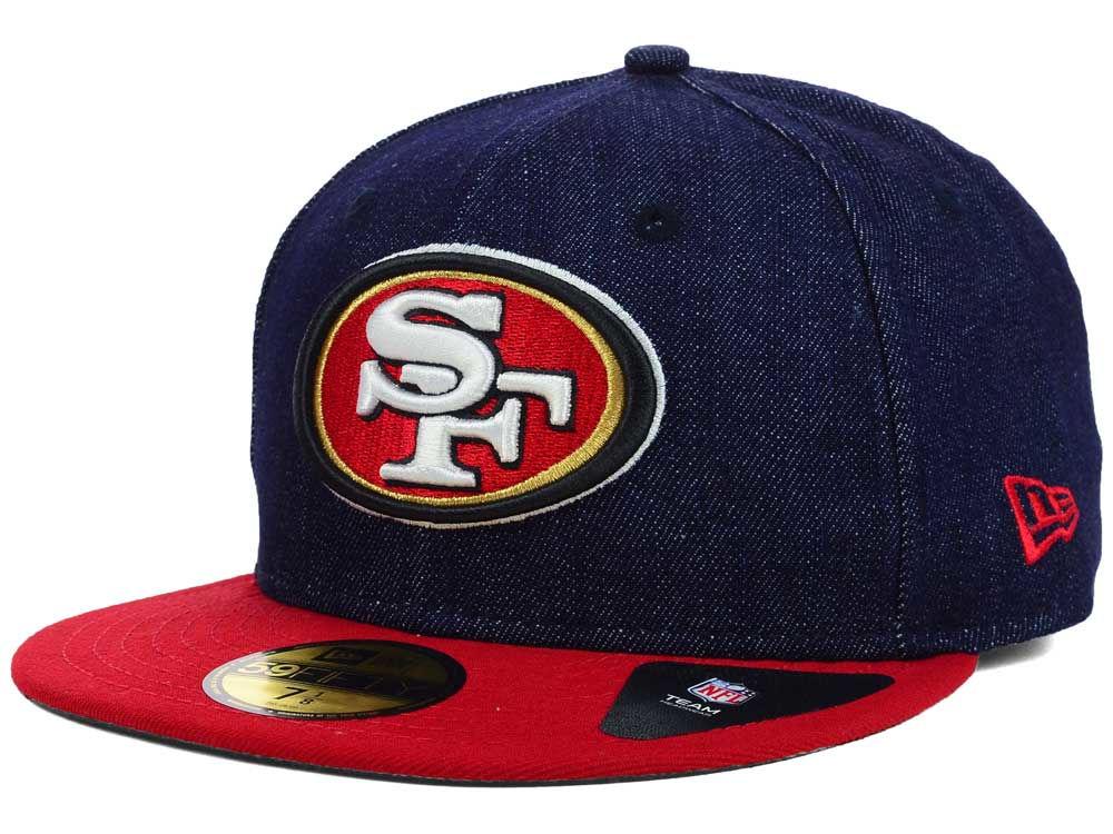 20867455341 ... australia san francisco 49ers new era nfl 2 tone denim team 59fifty cap  c1c46 58707
