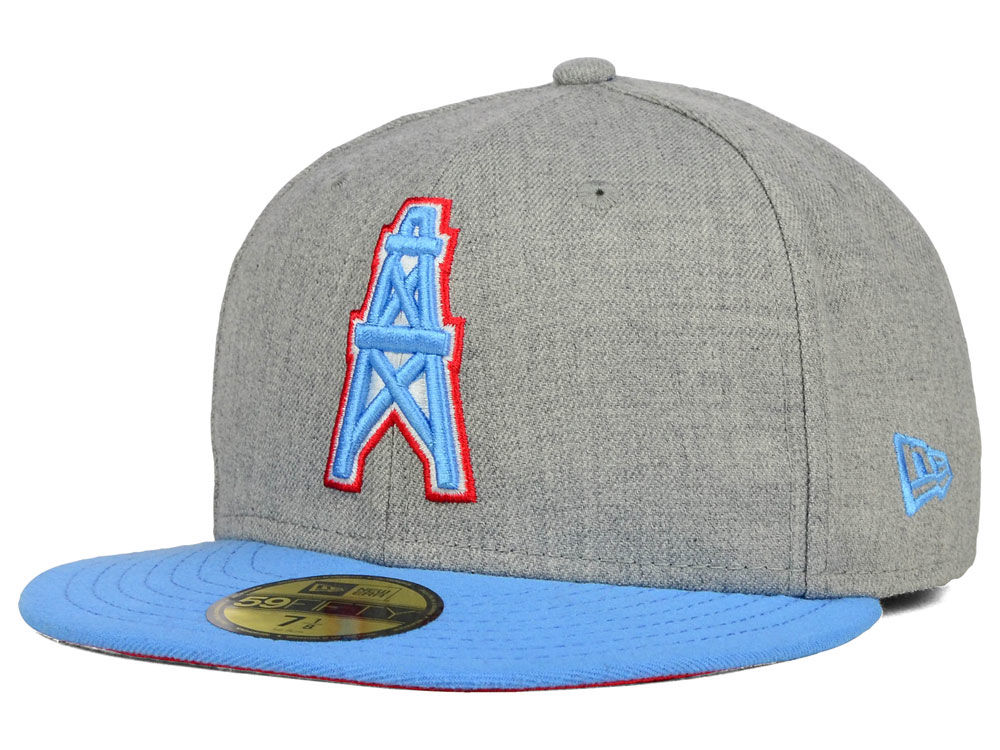 Houston Oilers New Era NFL 2 Tone Heather Team 59FIFTY Cap  f5c45240fc5