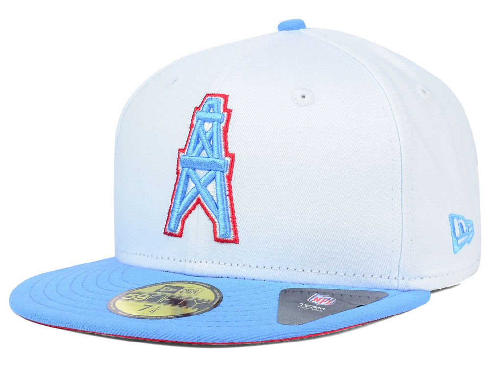 Houston Oilers New Era NFL 2 Tone White Team 59FIFTY Cap  cfb85f5ca7c