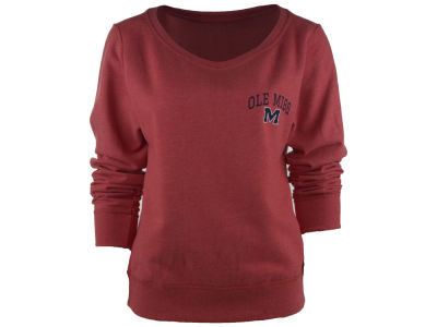 Ole Miss Rebels NCAA Women's Arial Fleece Crew Sweatshirt