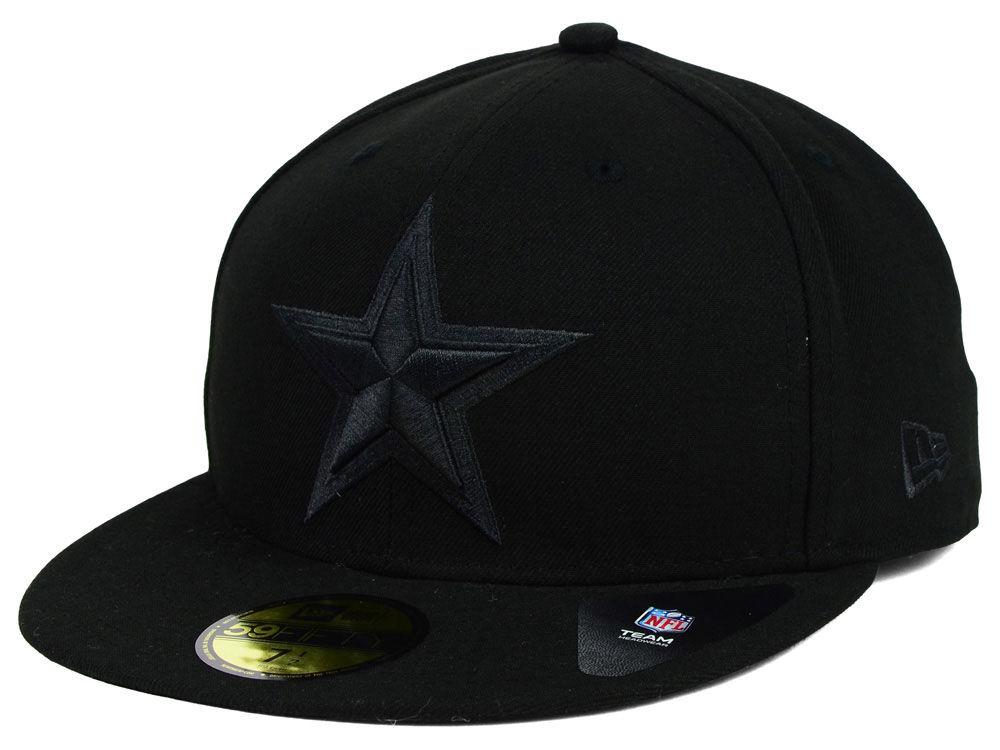 Dallas Cowboys New Era NFL Black on Black 59FIFTY Cap  795822f0cbe