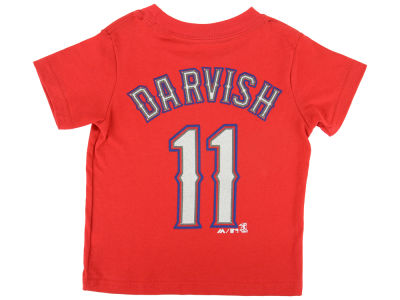 Texas Rangers Yu Darvish Majestic MLB Toddler Official Player T-Shirt
