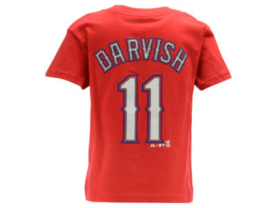 Texas Rangers Yu Darvish Majestic MLB Kids Official Player T-Shirt