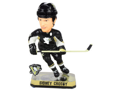 Pittsburgh Penguins Sidney Crosby Springy Logo Bobble