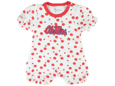 Ole Miss Rebels NCAA Newborn Polka Dot Romper