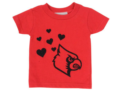 Louisville Cardinals Atlanta Hosiery NCAA Newborn Glitter Wordmark T-Shirt