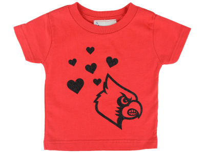 Louisville Cardinals Atlanta Hosiery NCAA Infant Glitter T-Shirt