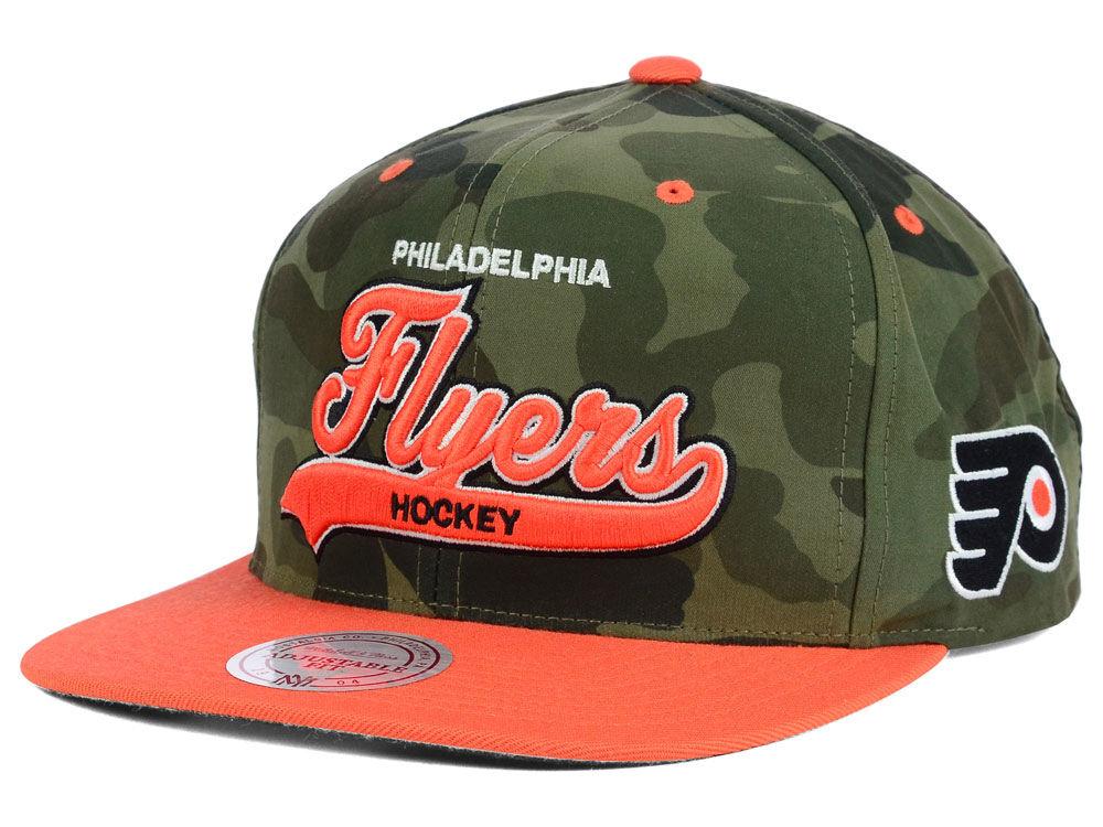 Philadelphia Flyers Reebok NHL Camo Tailsweep Snapback Hat  a47efb9943e