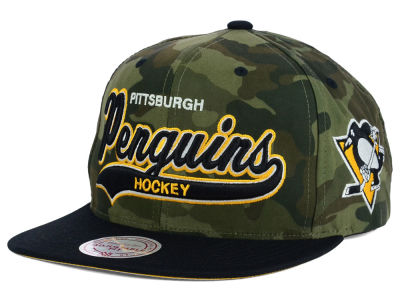 Pittsburgh Penguins Reebok NHL Camo Tailsweep Snapback Hat