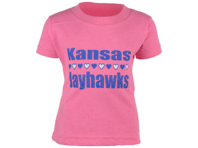Kansas Jayhawks NCAA Infant Straight Heart T-Shirt