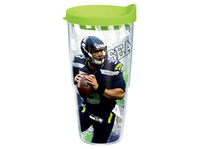 Seattle Seahawks RUSSELL WILSON 24oz Player Wrap Tumbler