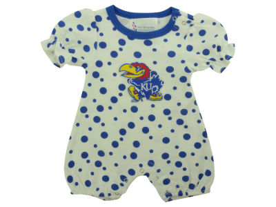 Kansas Jayhawks NCAA Infant Polka Dot Romper