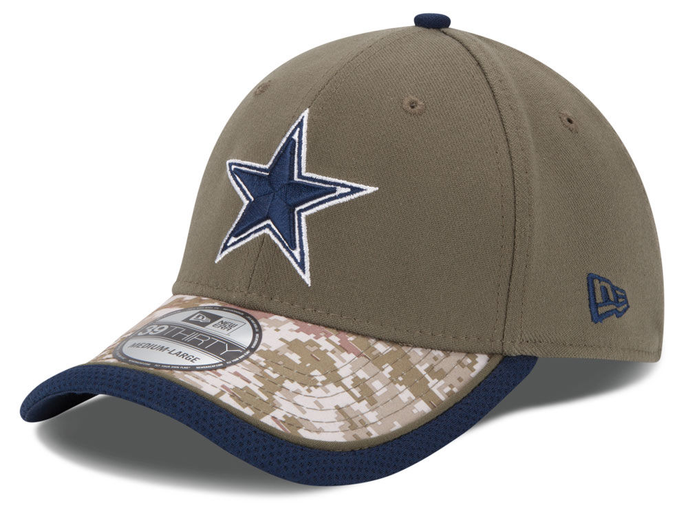 Dallas Cowboys New Era NFL Salute to Service 39THIRTY Cap  556f4966feb