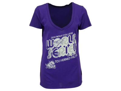 Texas Christian Horned Frogs NCAA College World Series Womens Bubble V Neck T-Shirt