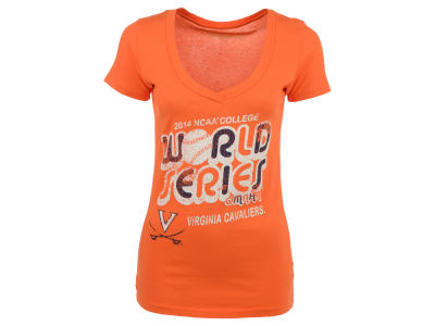 Virginia Cavaliers NCAA College World Series Womens Bubble V Neck T-Shirt