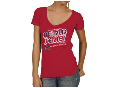 Ole Miss Rebels NCAA Women's College World Series Bubble V-Neck T-Shirt