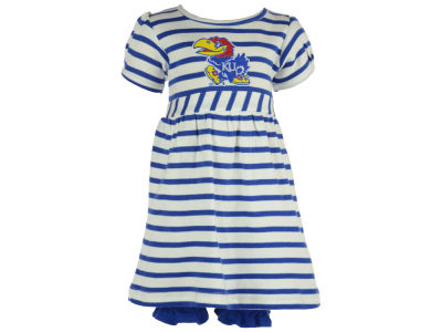 Kansas Jayhawks NCAA Newborn Stripe Dress