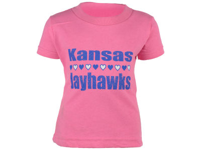 Kansas Jayhawks NCAA Newborn Straight Heart T-Shirt
