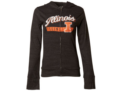 Illinois Fighting Illini Blue 84 NCAA Women's Script Full Zip Hoodie