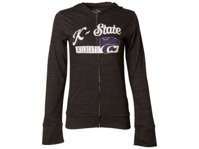 Kansas State Wildcats Blue 84 NCAA Women's Script Full Zip Hoodie