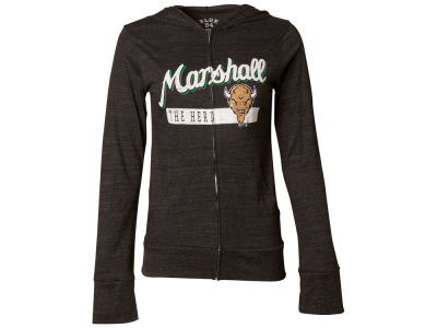 Marshall Thundering Herd Blue 84 NCAA Women's Script Full Zip Hoodie