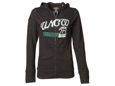 UNC Wilmington Seahawks Blue 84 NCAA Women's Script Full Zip Hoodie