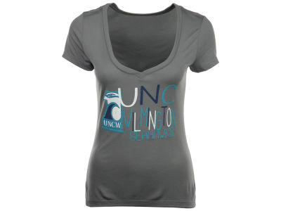 UNC Wilmington Seahawks Blue 84 NCAA Womens Magic Liquid T-Shirt