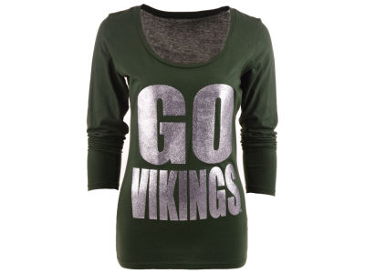 Portland State Vikings Blue 84 NCAA Womens Flicker Long Sleeve T-Shirt