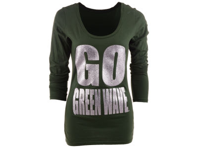 Tulane Green Wave Blue 84 NCAA Womens Flicker Long Sleeve T-Shirt