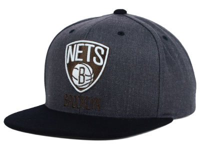 Brooklyn Nets Mitchell and Ness NBA 2014 Crown Snapback Cap