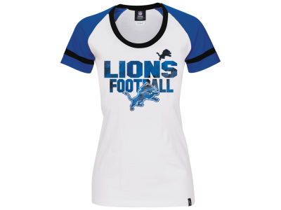 Detroit Lions 5th & Ocean NFL Women's LE Flock Huddle T-Shirt