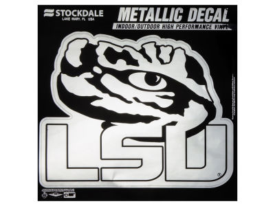 LSU Tigers 3x6 Metallic Decal