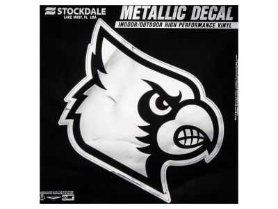 Louisville Cardinals 3x6 Metallic Decal
