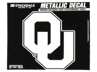 Oklahoma Sooners 3x6 Metallic Decal