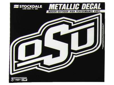 Oklahoma State Cowboys 3x6 Metallic Decal