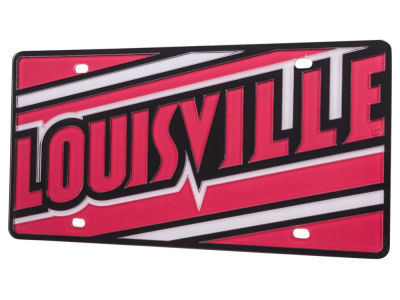 Louisville Cardinals Mega License Plate