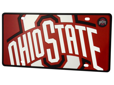Ohio State Buckeyes Mega License Plate