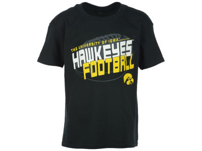 Iowa Hawkeyes NCAA Youth Football Empty T-Shirt