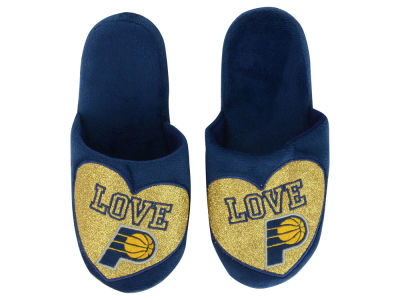 Indiana Pacers Love Glitter Ladies Slide Slipper